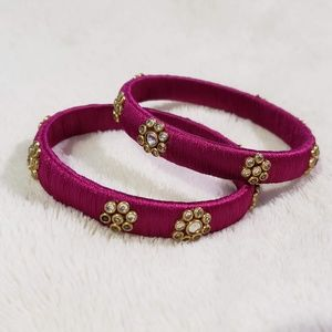 New Indian silk thread bangles party wear